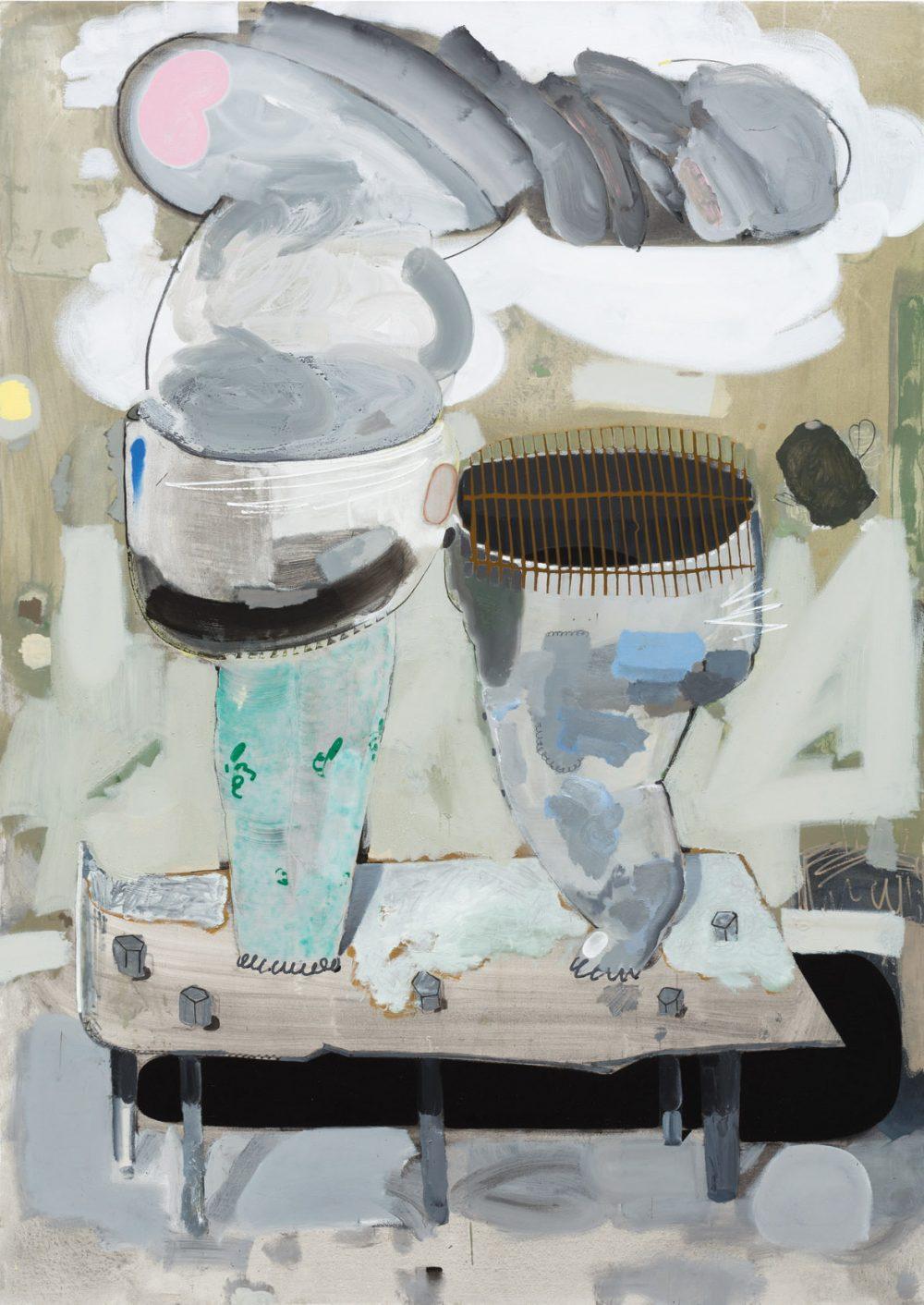 o.T. 43 (2016), Öl, Lack auf Leinwand, 280 x 200 cm