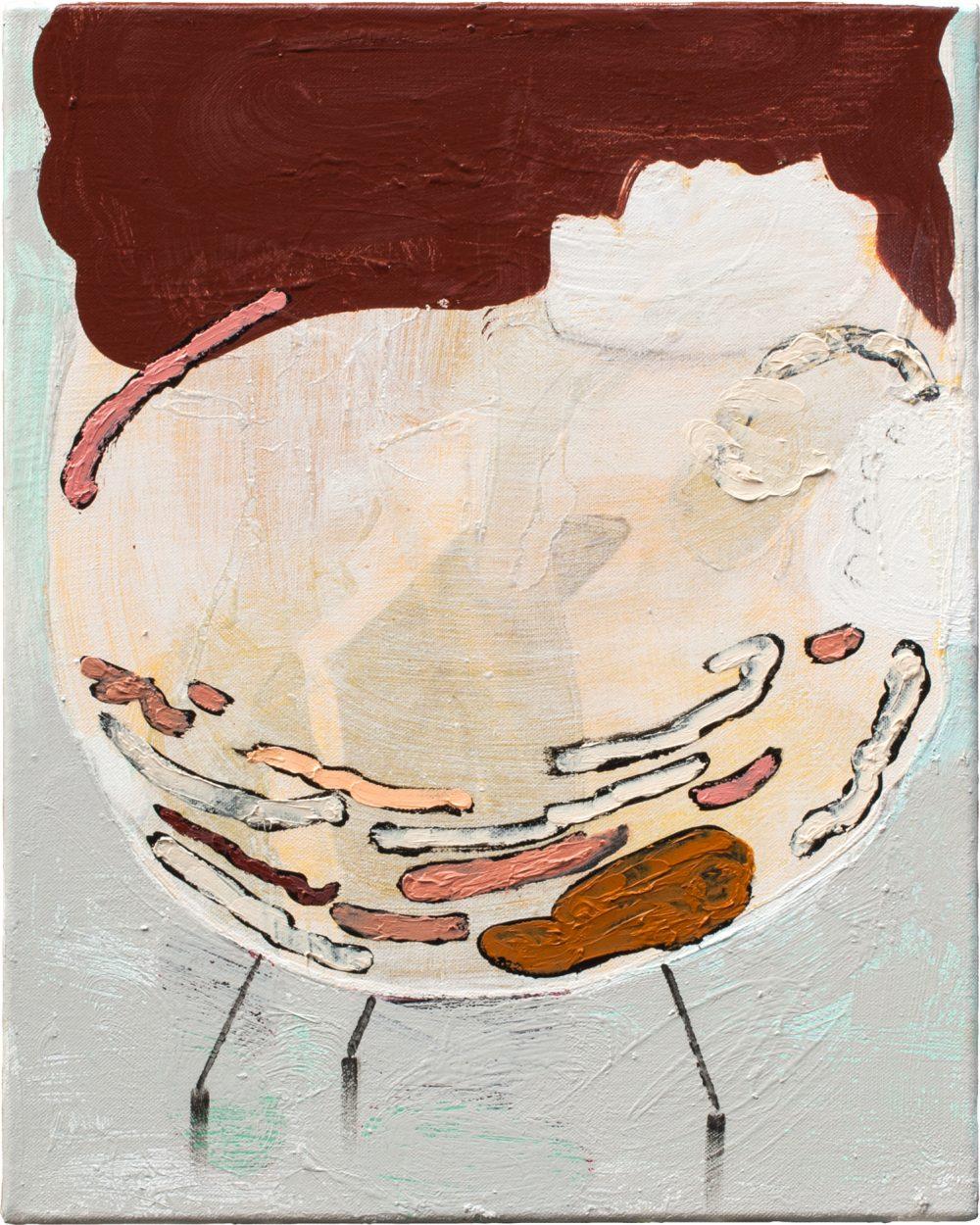 o. T. (2014), Öl und Lack auf Leinwand, 50 x 40 cm