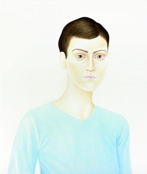 You somehow slip away (2008), acrylic on wood, 80 x 67 cm