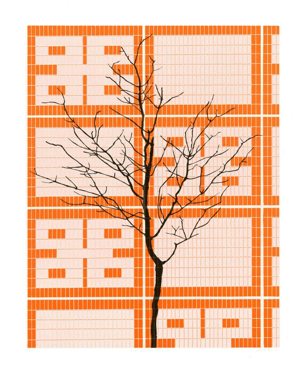 Die Gestaltung 2 (2015), 51 x 40 cm, Linolschnitt auf Papier, Ed. 10