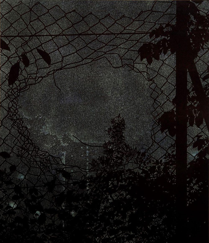 Entrance (2009), Linolschnitt auf Papier, 103 x 89 cm, Ed. 10