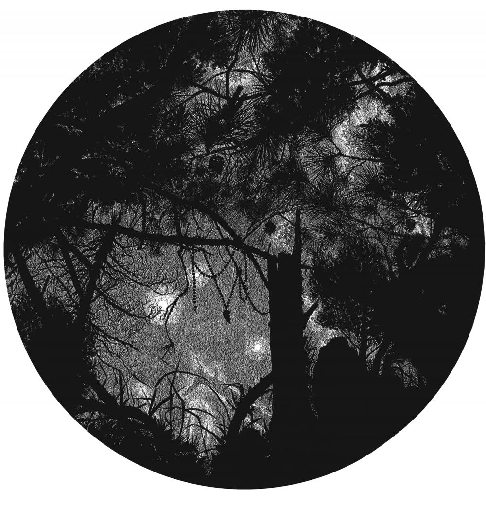 Lost (2008), Linolschnitt auf Papier, 138 cm Ø, Ed. 3