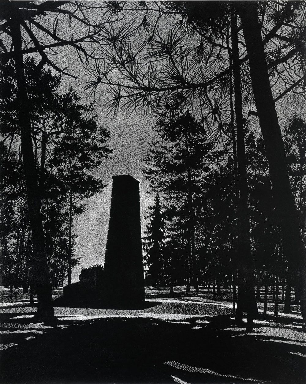 Monument (2012), Linolschnit auf Papier, 110.5 x 90 cm, Ed. 6