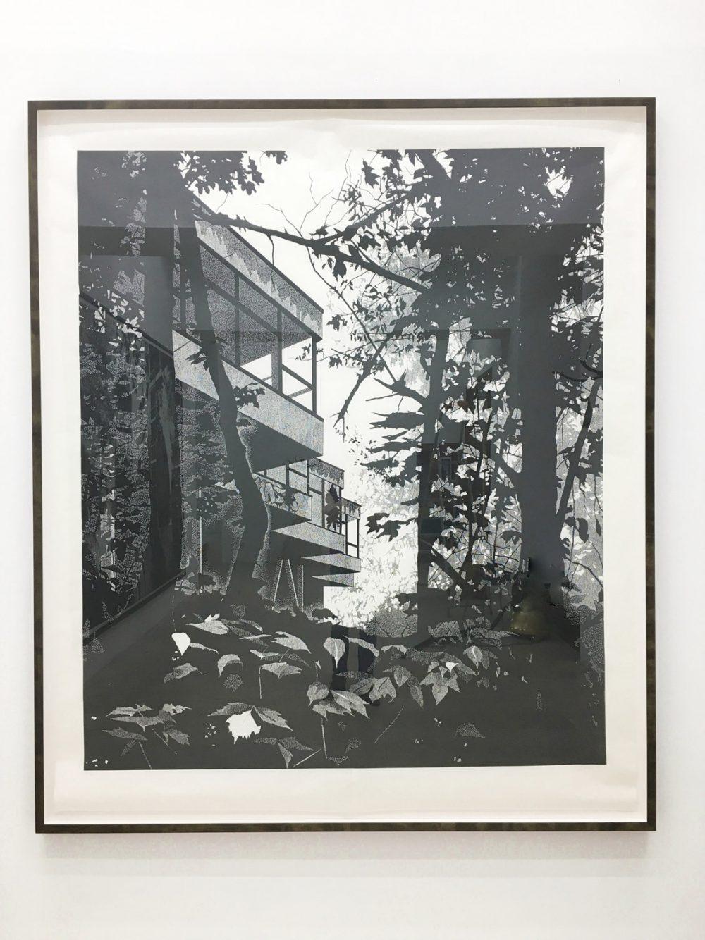 Station (2016), 200 x 170 cm, Linolschnitt auf Kozo-Papier, Ed. 5