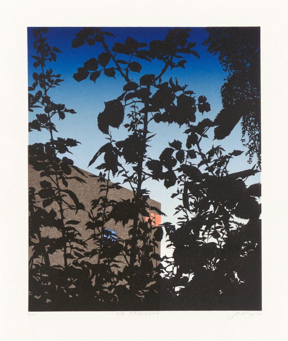 Die Abteilung (2017), 26 x 20 cm, linocut on paper