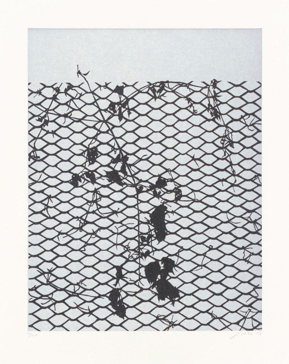 Beyond (2018), 26 x 20 cm, linocut on paper