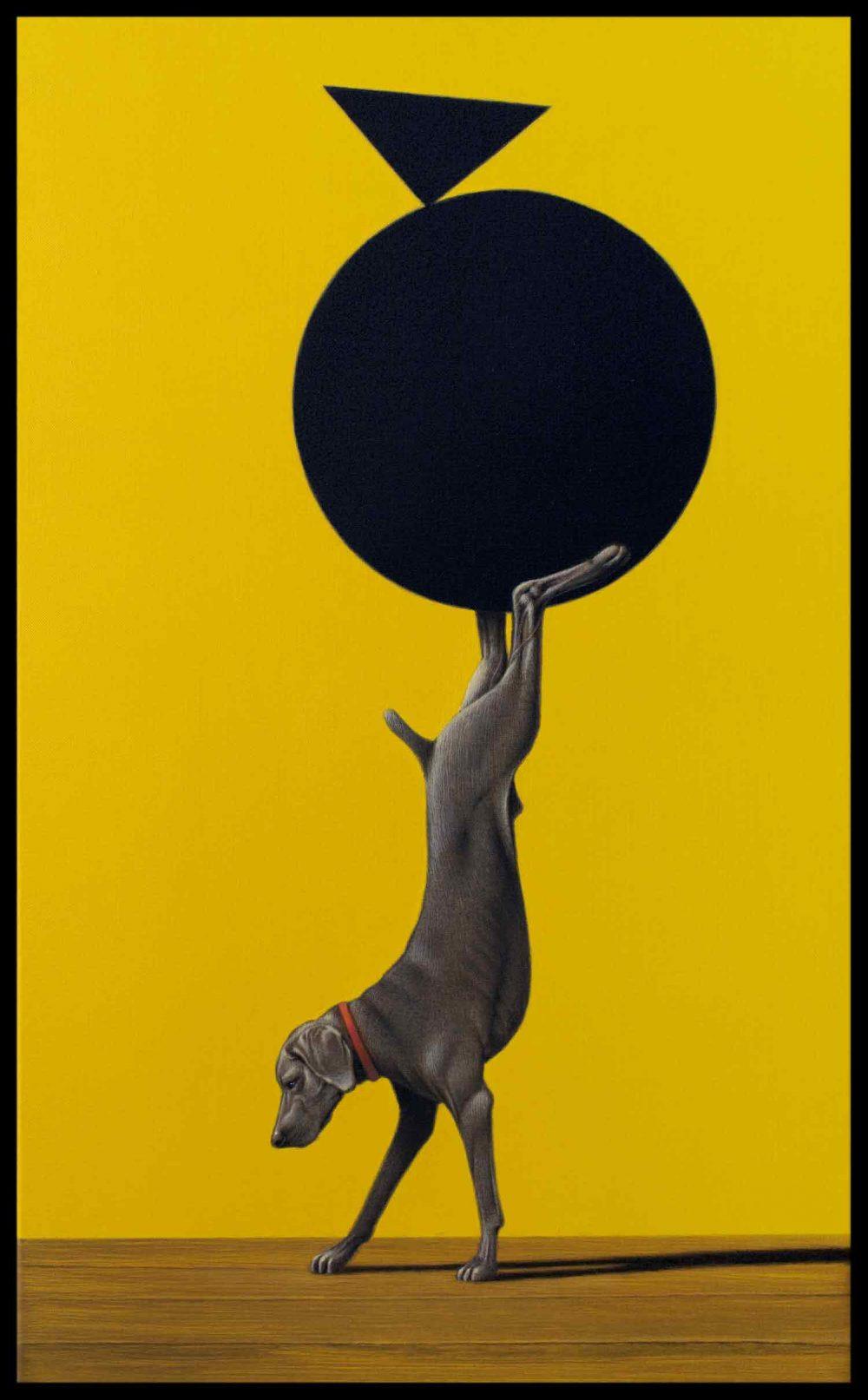 Disziplin 2 (2017), Acryl auf Leinwand, 50 x 30 cm
