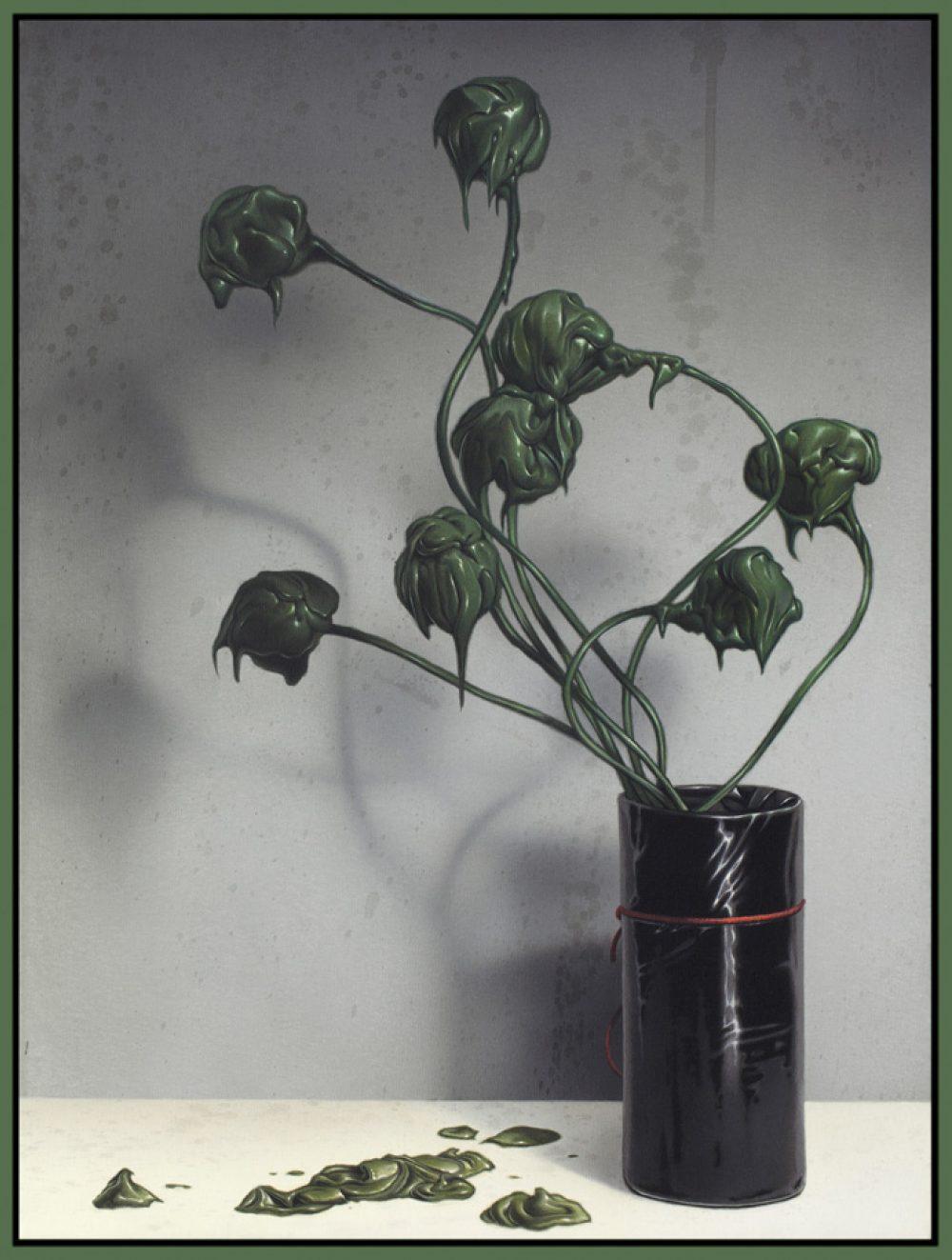 Dutch Flowers (2015), Acryl auf Leinwand, 55 x 40 cm