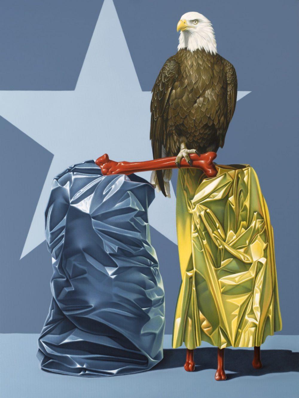 Eagle (2012), Acryl auf Leinwand, 120 x 90 cm