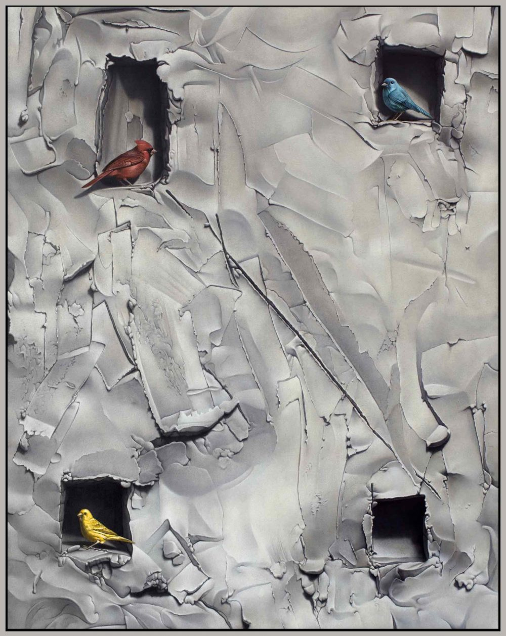Habitat (2017), Acryl auf Leinwand, 160 x 130 cm