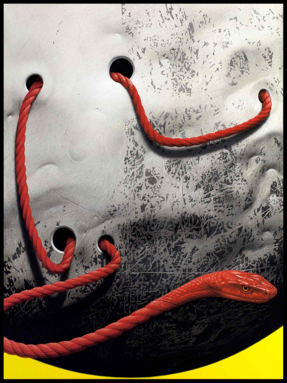Schlangenmond (2017), Acryl auf Leinwand, 80 x 60 cm