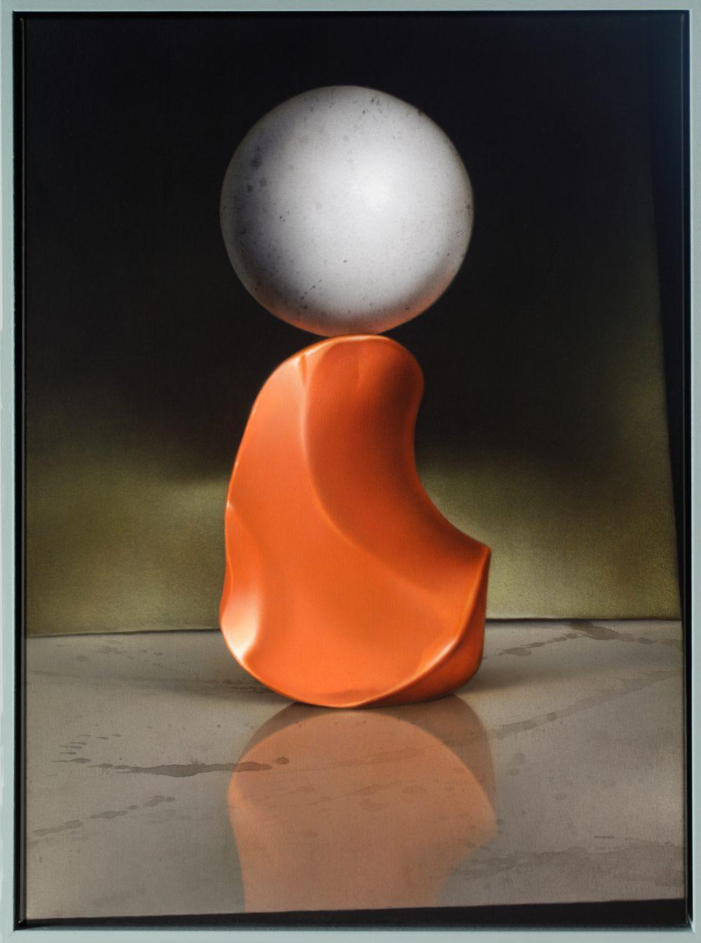 Skulptur in C-Moll (2014), Acryl auf Leinwand, 70 x 50 cm