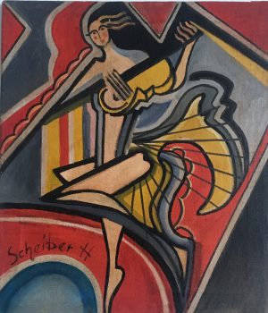 Dancer (approx. 1930), oil on canvas, 59 x 56 cm