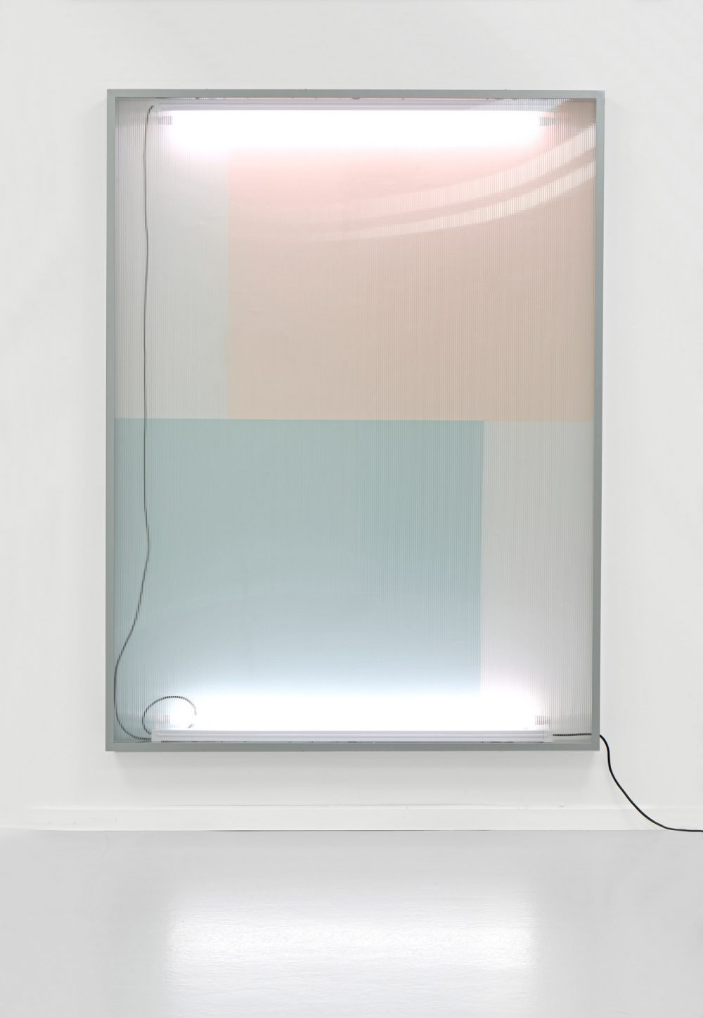 Untitled (241), series Reflecting View (2017), lightbox, wall paint, 200 x 150 x10,5 cm