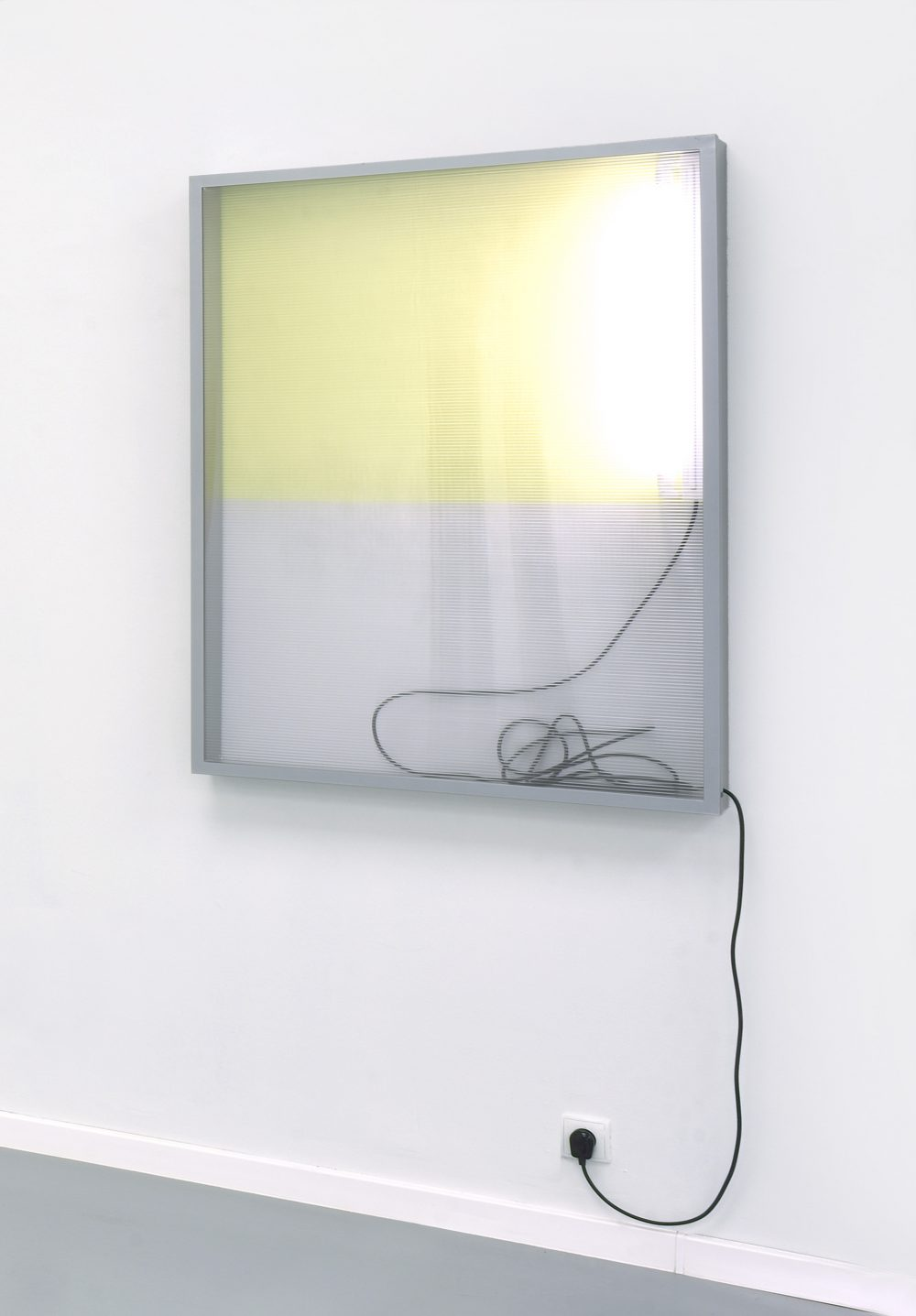 Untitled (244), series Reflecting View (2017), lightbox, wall paint, 120 x 90 x10,5 cm