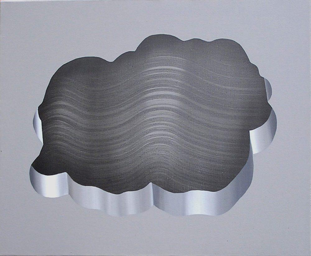 Untitled 132 (2011), Acryl auf Leinwand, 40 x 50 cm