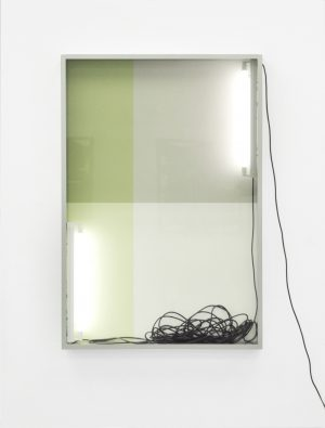 Untitled (243), series Reflecting View (2017), lightbox, wall paint, 152 x 102 x10,5 cm