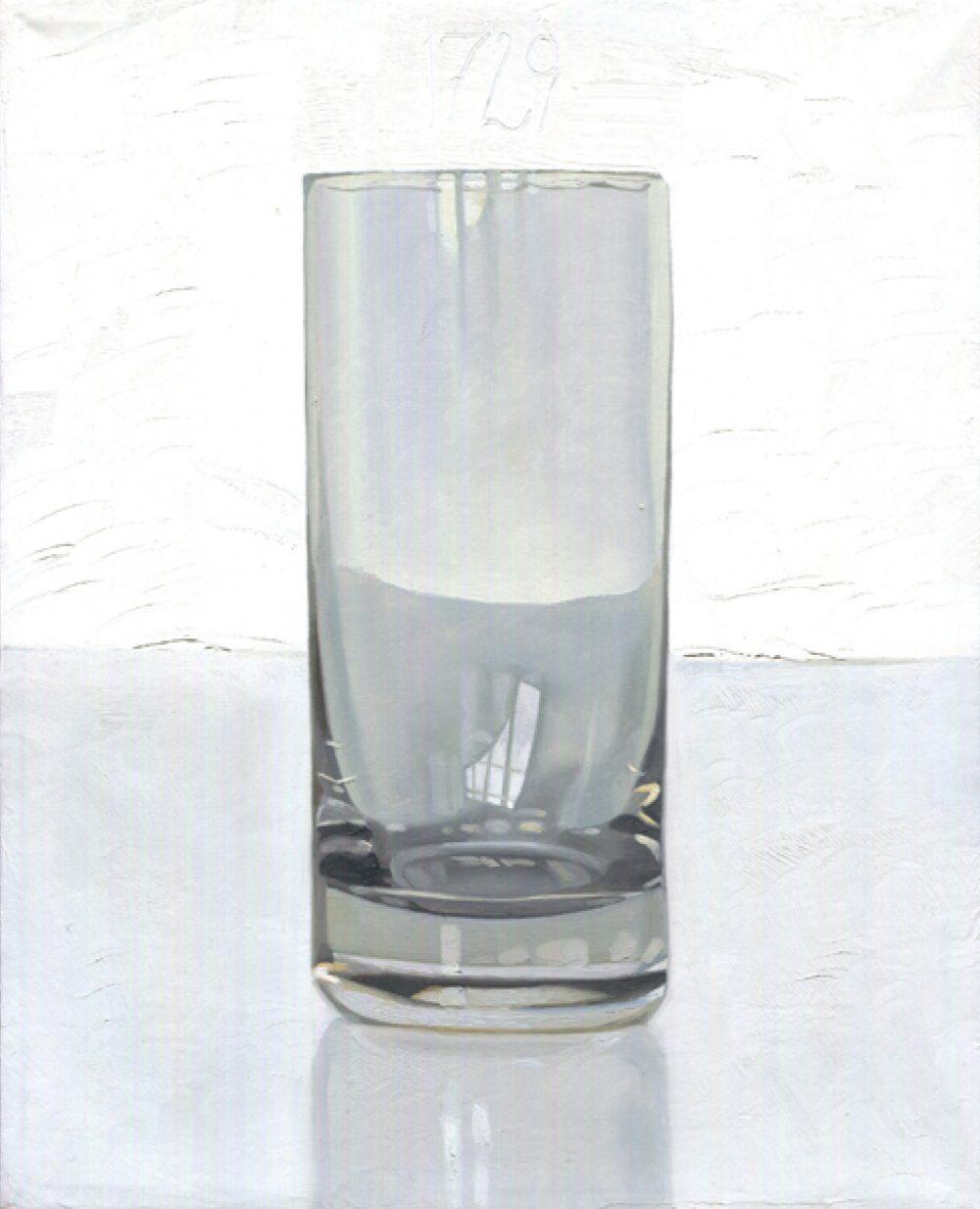 Tag um Tag guter Tag (Tagglas 1729), 2002. Öl auf Leinwand. 25 x 20 cm