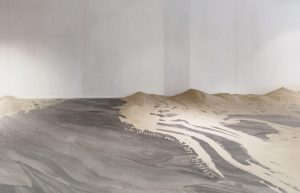 Sophia Pompery + Lena Von Gödecke, Luv und Lee (2019), site specific installation with sand (at Kunstverein Osnabrueck)